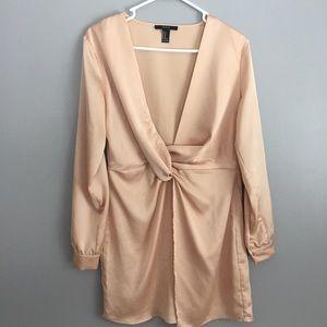 Forever 21 Rose Gold Mini Dress